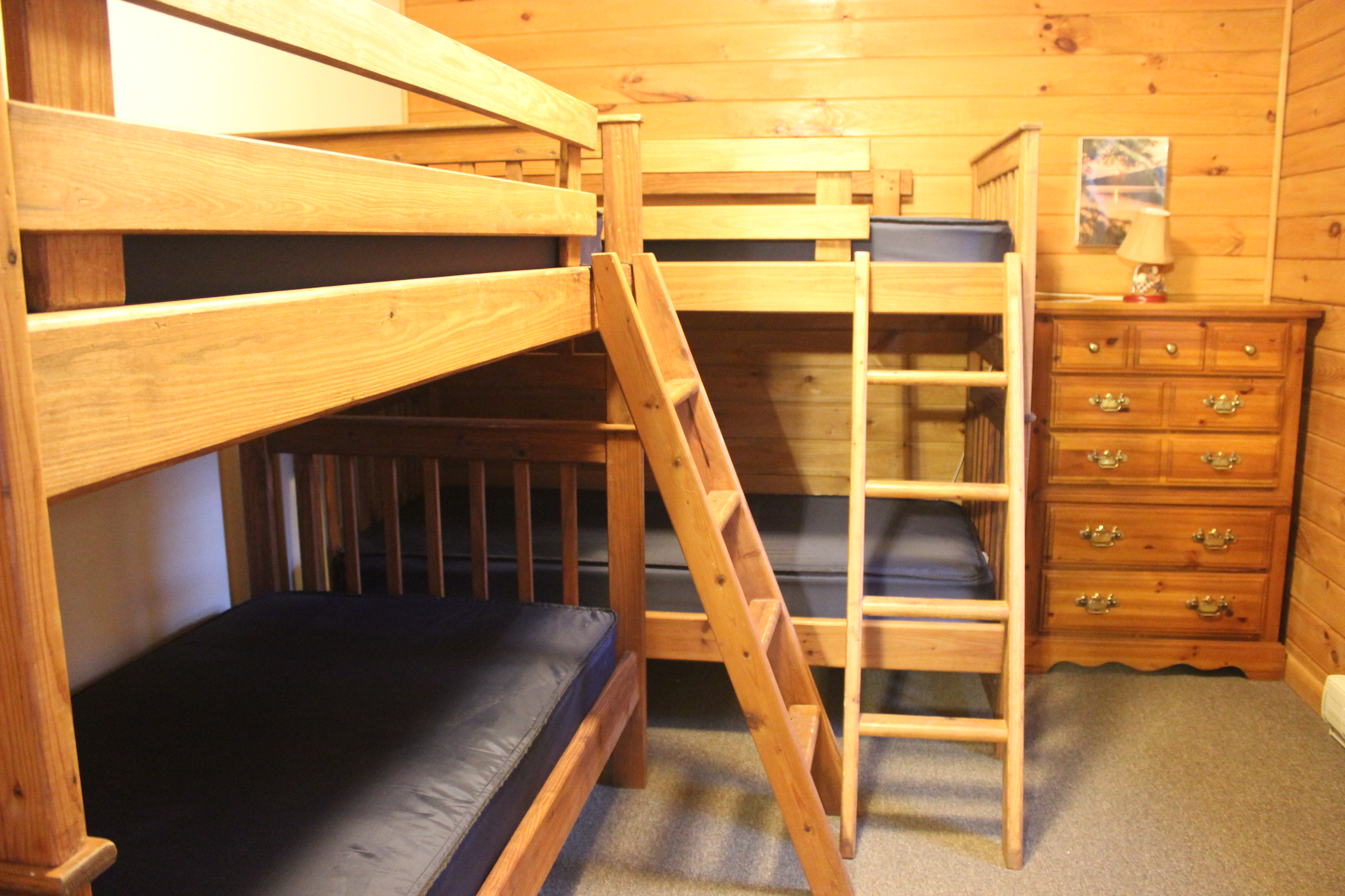 Our Log Cabins Are Fully Stocked With A Microwave Oven And Dorm Size Refrigerator They Also Have Full Bathrooms Including Bathtub Except For Cabin